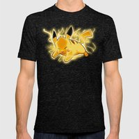 Pikachu used thunderbolt Mens Fitted Tee Tri-Black SMALL