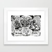 Occasional sex might be fun Framed Art Print