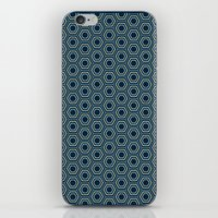 Hexagon Pattern In Blue iPhone & iPod Skin