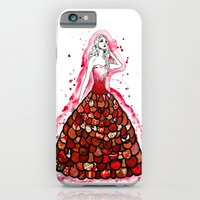 iPhone & iPod Case featuring The Red Dress by Jenndalyn