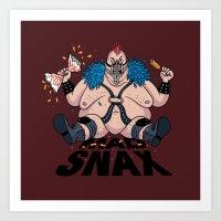 Mad Snax Art Print