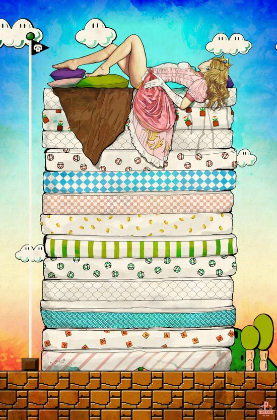 Princess Peach and the Pea Art Print