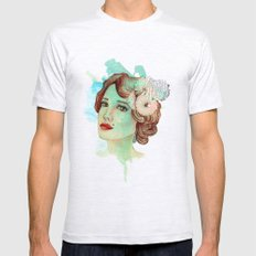 retro woman 2 Mens Fitted Tee Ash Grey SMALL