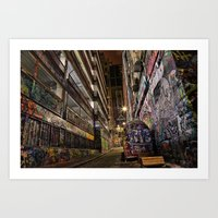 Graffiti Lane Art Print