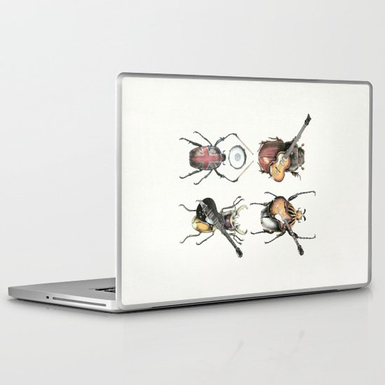 Meet the Beetles (white option) Laptop & iPad Skin