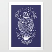 The Wise One - Owl Art Print