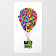 Disney's UP House  Art Print
