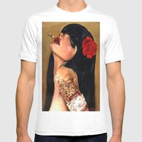 SmokingWMN Mens Fitted Tee White SMALL