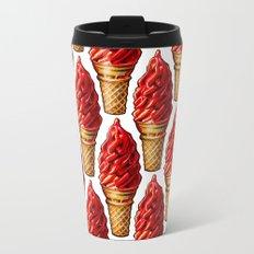 Cherry Dip Cone Pattern Travel Mug