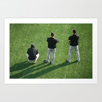 lincey, cain, and bum Art Print