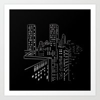 City nights, city lights Art Print