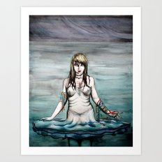 When she died, she was going nowhere Art Print