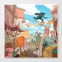 The Little Scribe: Thief!  Canvas Print