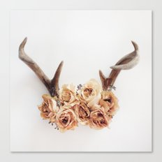 Floral Antlers I Canvas Print