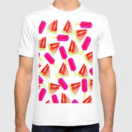 Summer Fun 2 Mens Fitted Tee White SMALL