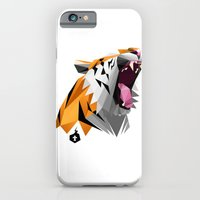 iPhone & iPod Case featuring TML polygon tiger ROAR!!! by TEMKA