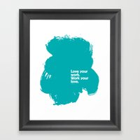 Paint (Blue) Framed Art Print