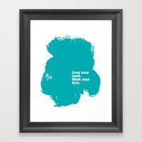 Paint (Blue) Framed Art Print