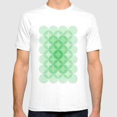 Geometric Abstraction III White SMALL Mens Fitted Tee