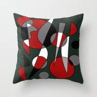 Abstract #140 Throw Pillow