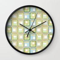 English Country Tiles. Wall Clock