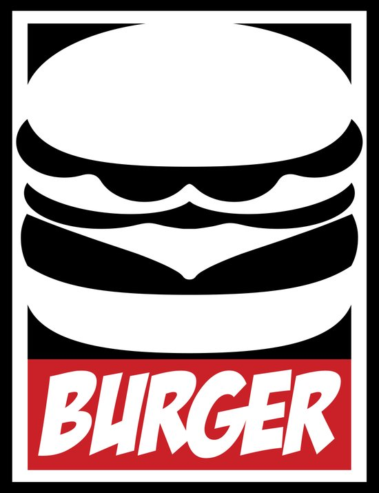 Obey Burger Canvas Print