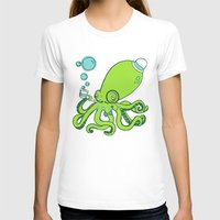 Mr.Octopus Womens Fitted Tee White SMALL