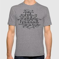 Hot Haute Hawt Mens Fitted Tee Athletic Grey SMALL