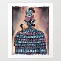 Madame Librarian Art Print