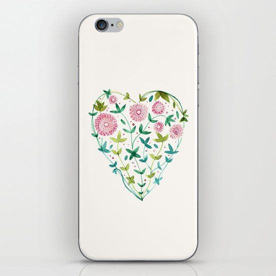 garden heart iPhone & iPod Skin