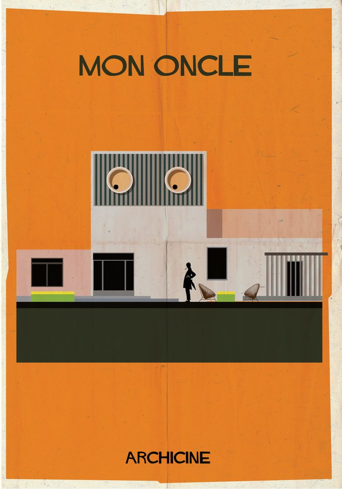 2 mon oncle directed jacques tati art print by federico babina society6 - Jacques tati mon oncle ...