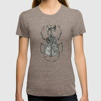 Sr Coprofago - Beetle Sh… Womens Fitted Tee Tri-Coffee SMALL