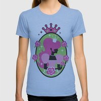 Princess Silhouette Womens Fitted Tee Athletic Blue SMALL