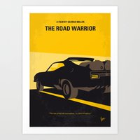 No051 My Mad Max 2 Road Warrior minimal movie poster Art Print