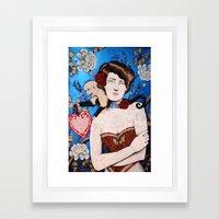 Augusta -- The Tattooed Lady Framed Art Print