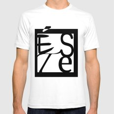 LOGO ESTE SMALL Mens Fitted Tee White