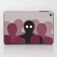 Different And Alone In Crowd iPad Case
