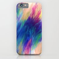 iPhone & iPod Case featuring Paint Feathers in the Sky by Caleb Troy