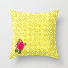 Floral Geometric Throw Pillow