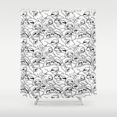 Oh Sloth Shower Curtain