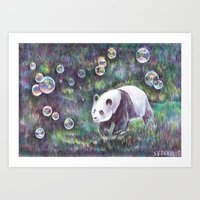 Bubble panda.  Art Print