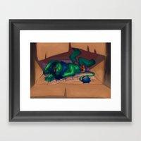 Sleeping Bum Framed Art Print