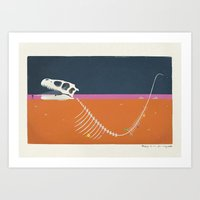 Burying The Line After A… Art Print