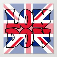 LONDON Union Jack Canvas Print