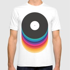 Happy Music Mens Fitted Tee White SMALL