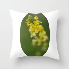 Yellow rising Throw Pillow
