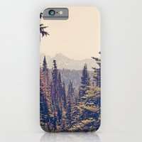 vintage iPhone & iPod Cases featuring Mountains through the Trees by Kurt Rahn