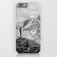 Child on the rock - Black ink iPhone 6 Slim Case