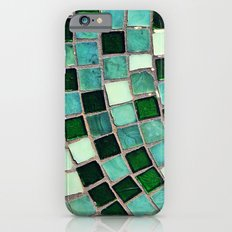 Green Tiles - an abstract photograph iPhone 6 Slim Case