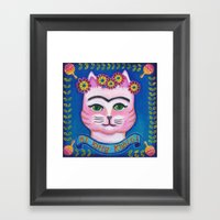el Kitty Kahlo Framed Art Print